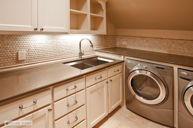 Best ideas about Laundry Room Countertop . Save or Pin The Utility Room Mediterranean Laundry Room Houston Now.