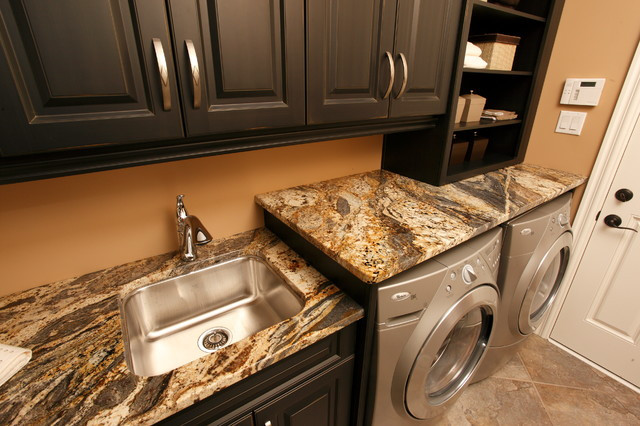 Best ideas about Laundry Room Countertop . Save or Pin Granite Laundry Room Traditional Laundry Room Now.