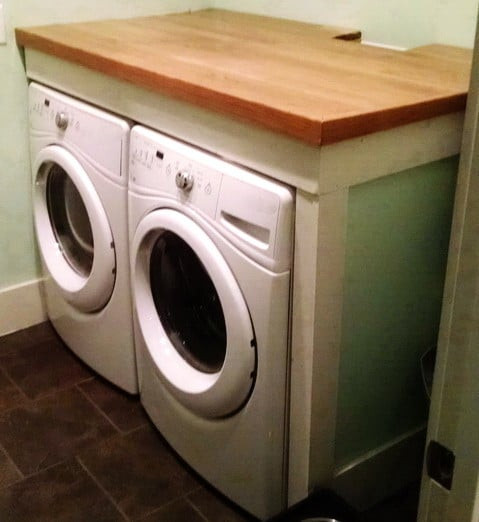 Best ideas about Laundry Room Countertop . Save or Pin DIY Laundry Room Countertop Over Washer Dryer Now.