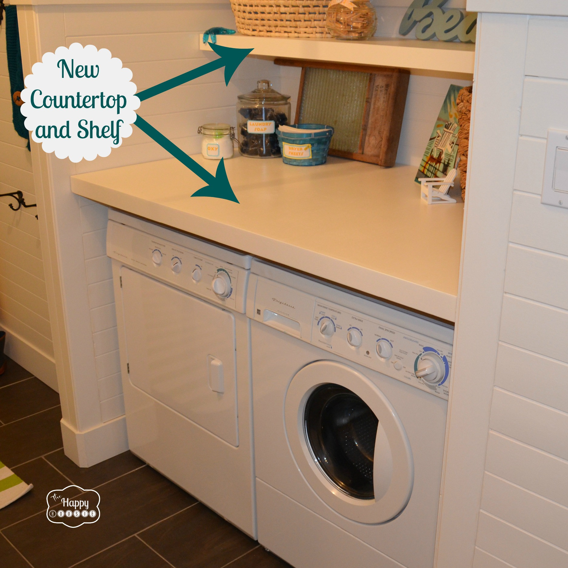 Best ideas about Laundry Room Countertop . Save or Pin How To Revamp a Laundry Room Mud Room on a Bud The Now.