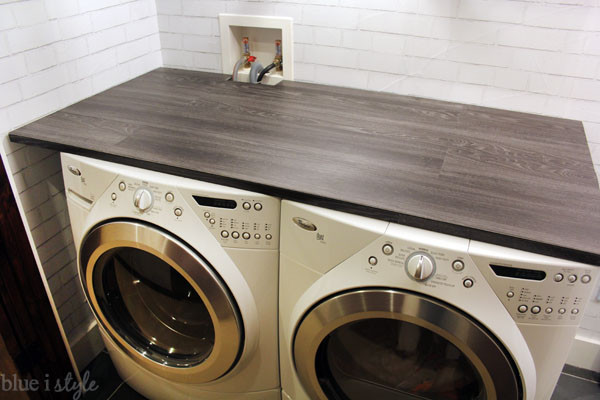 Best ideas about Laundry Room Countertop . Save or Pin diy with style DIY Wood Plank Laundry Room Countertop Now.