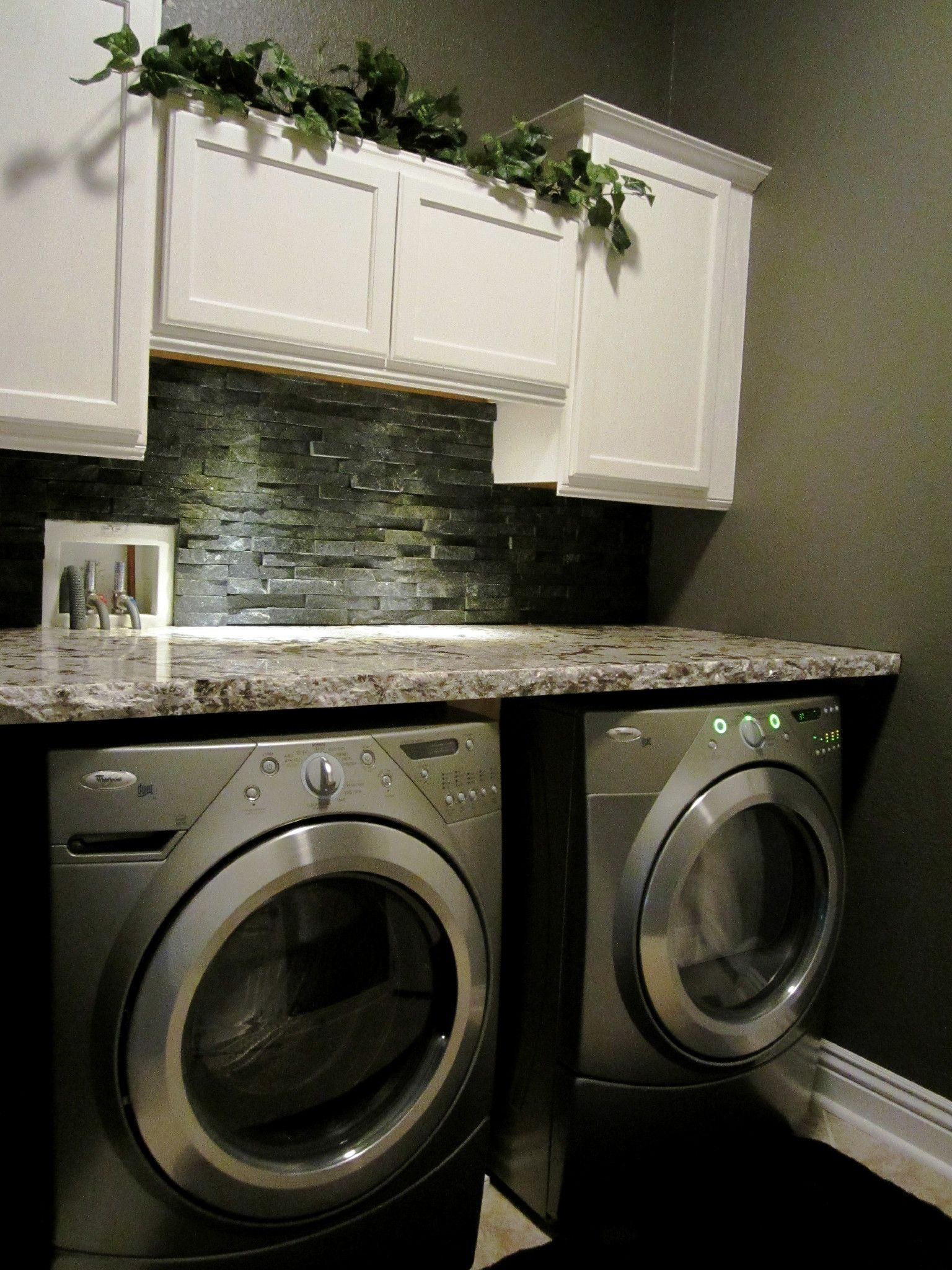 Best ideas about Laundry Room Countertop . Save or Pin my laundry room granite countertop stone backsplash Now.