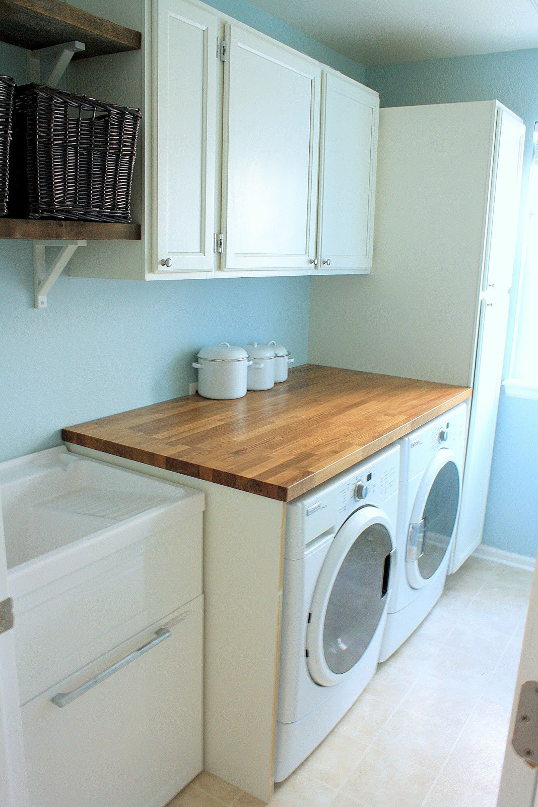Best ideas about Laundry Room Countertop . Save or Pin Tanner Projects Laundry Room Reveal finally Now.