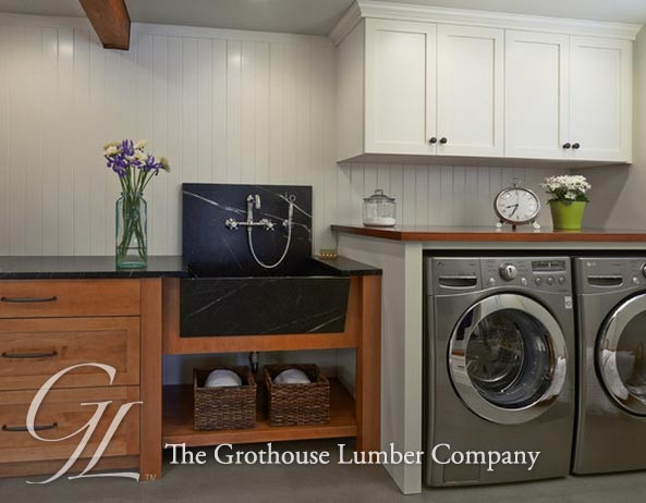 Best ideas about Laundry Room Countertop . Save or Pin African Mahogany Countertop for a Laundry Room in Washington Now.