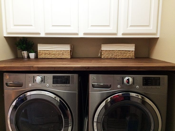 Best ideas about Laundry Room Countertop . Save or Pin Butcher Block Countertop in Laundry Room Now.