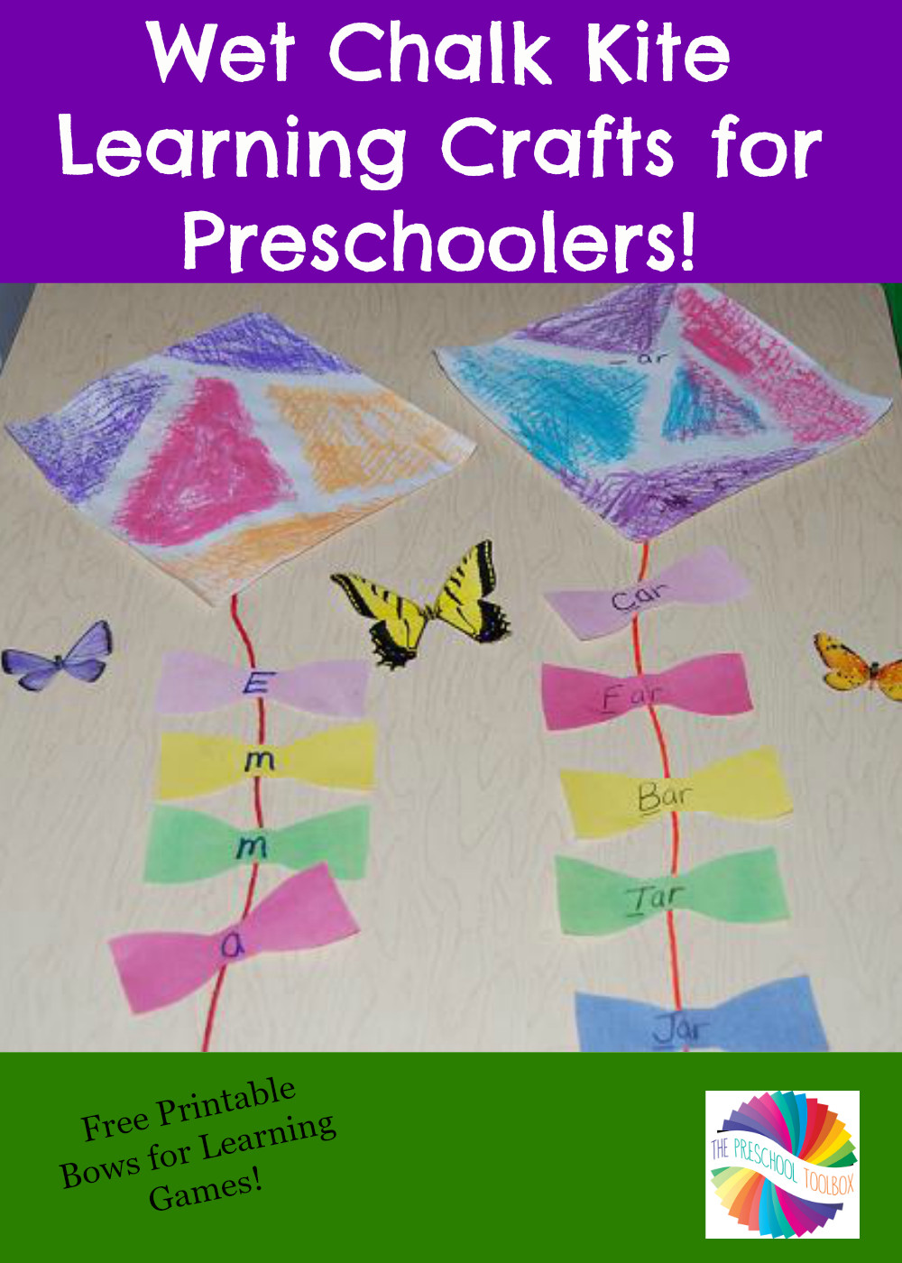 Best ideas about Learning Crafts For Preschoolers . Save or Pin Wet Chalk Kite Learning Crafts for Preschoolers • The Now.