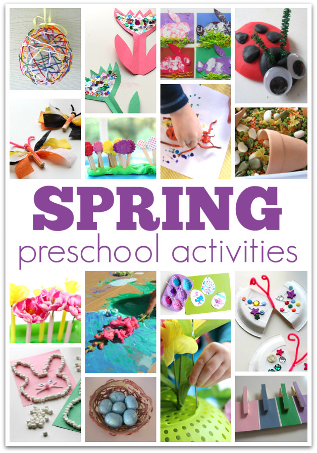 Best ideas about Learning Crafts For Preschoolers . Save or Pin Big List of Spring Preschool Activities No Time For Now.