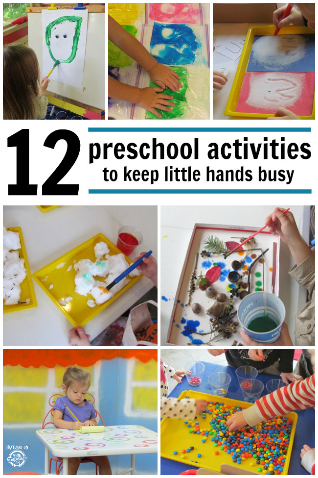 Best ideas about Learning Crafts For Preschoolers . Save or Pin 12 Preschool Activities to Keep Little Hands Busy Now.