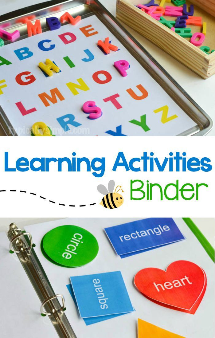 Best ideas about Learning Crafts For Preschoolers . Save or Pin Learning Activities Binder with Free Printable Now.