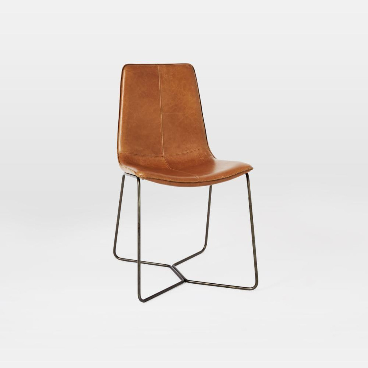 Best ideas about Leather Dining Chair . Save or Pin Leather Slope Dining Chair Now.