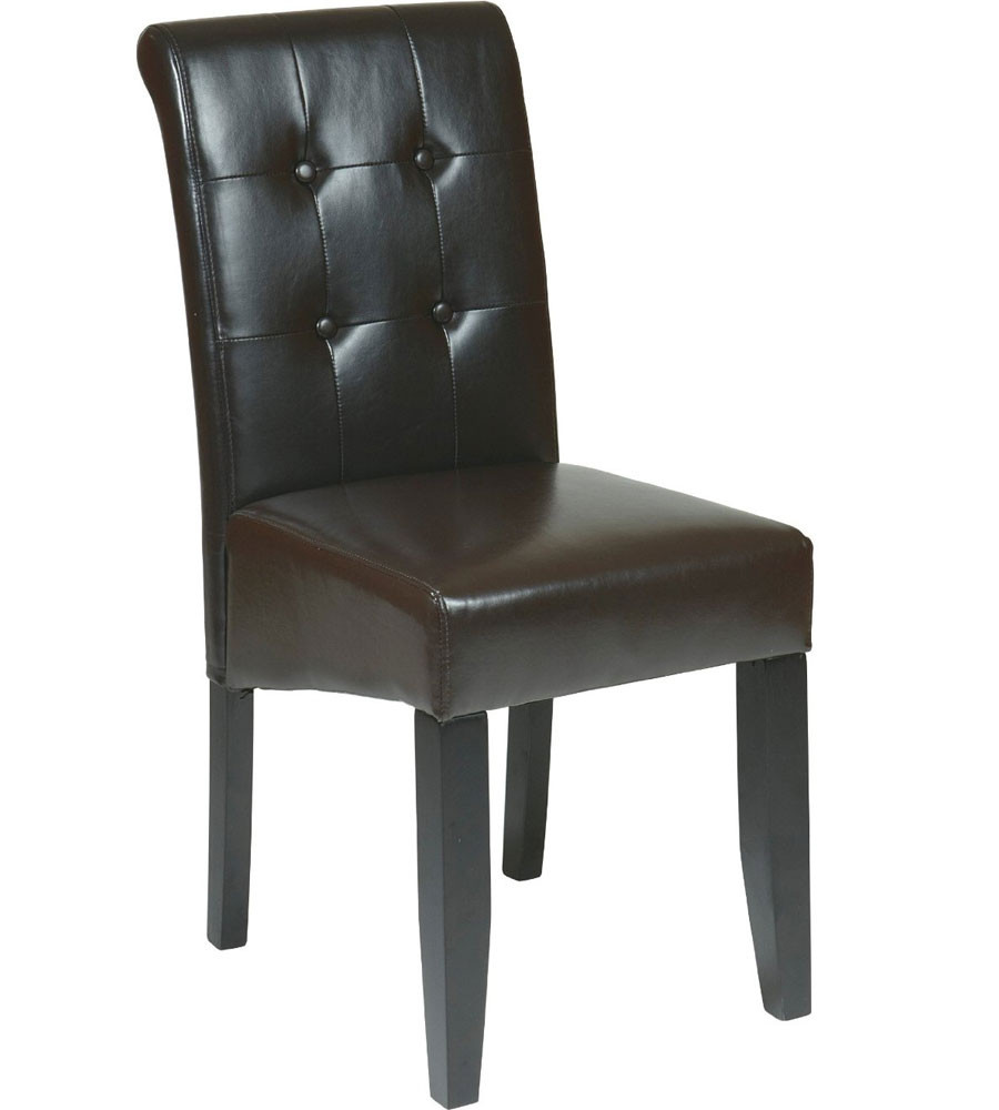 Best ideas about Leather Dining Chair . Save or Pin Faux Leather Dining Chair in Dining Chairs Now.