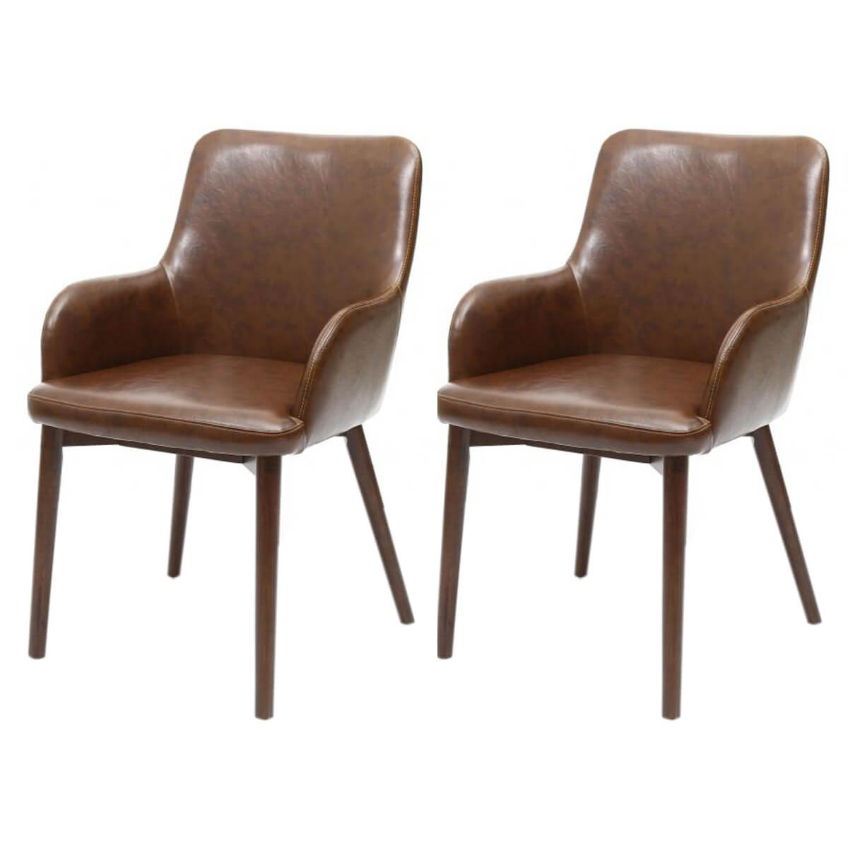 Best ideas about Leather Dining Chair . Save or Pin Sidcup Vintage Brown Leather Dining Chairs Now.
