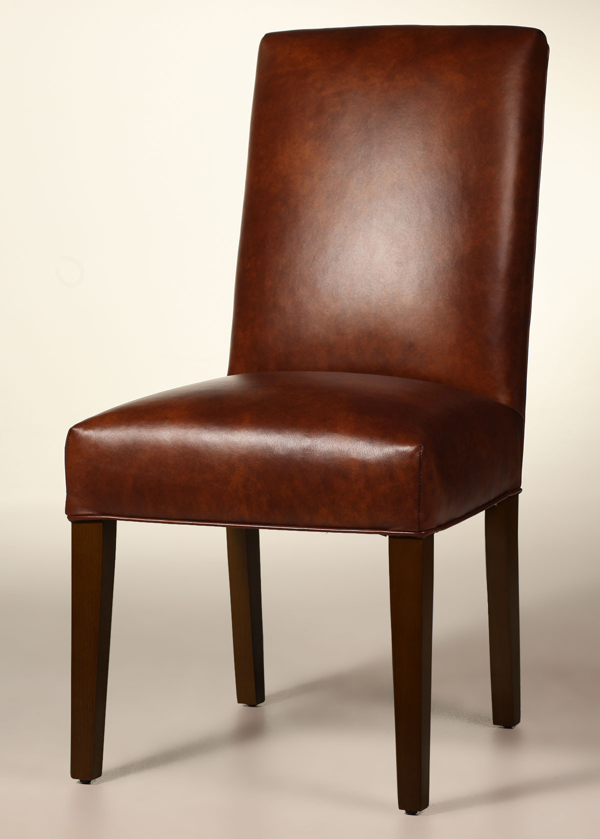 Best ideas about Leather Dining Chair . Save or Pin Bristol Straight Back Leather Dining Chair with Tapered Now.