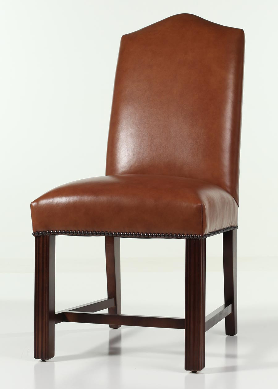 Best ideas about Leather Dining Chair . Save or Pin Leather Camel Back Chippendale Dining Chair with Nailhead Trim Now.