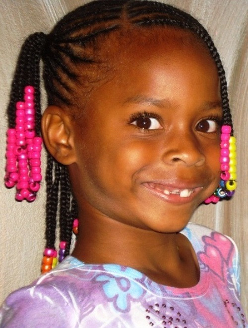 Best ideas about Lil Black Girl Hairstyles Braids . Save or Pin 10 Attractive Black Braided Hairstyles With Beads – The Now.