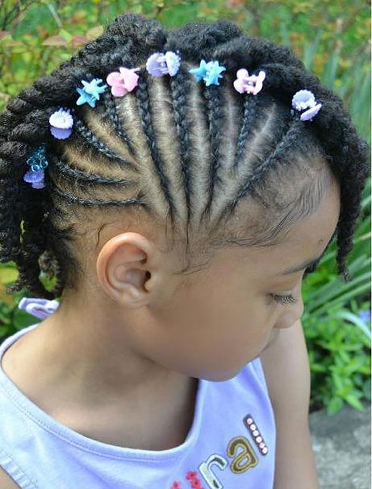 Best ideas about Lil Black Girl Hairstyles Braids . Save or Pin 64 Cool Braided Hairstyles for Little Black Girls – Page 5 Now.