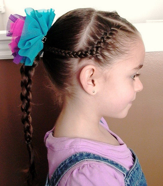 Best ideas about Little Girl Hairstyle . Save or Pin Sweet Chearleading Hairstyles for Little Girls Now.