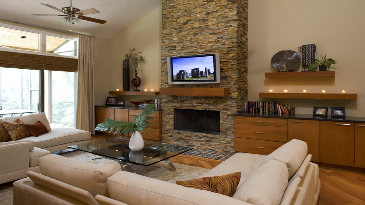 Best ideas about Living Room Remodel . Save or Pin Rustic living room fireplace remodel rustic living room Now.