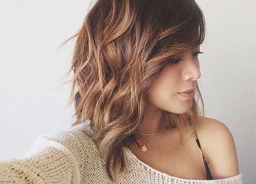 Best ideas about Long Wavy Bob Hairstyles . Save or Pin 15 Nice Layered Wavy Bob Now.