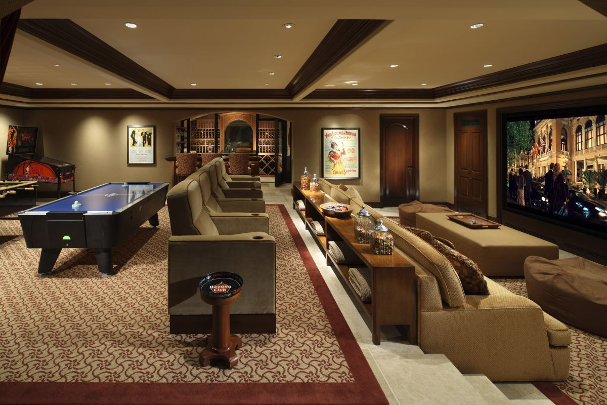 Best ideas about Luxury Game Room . Save or Pin Luxury Media Room Game Room Landry Design Group Inc Now.