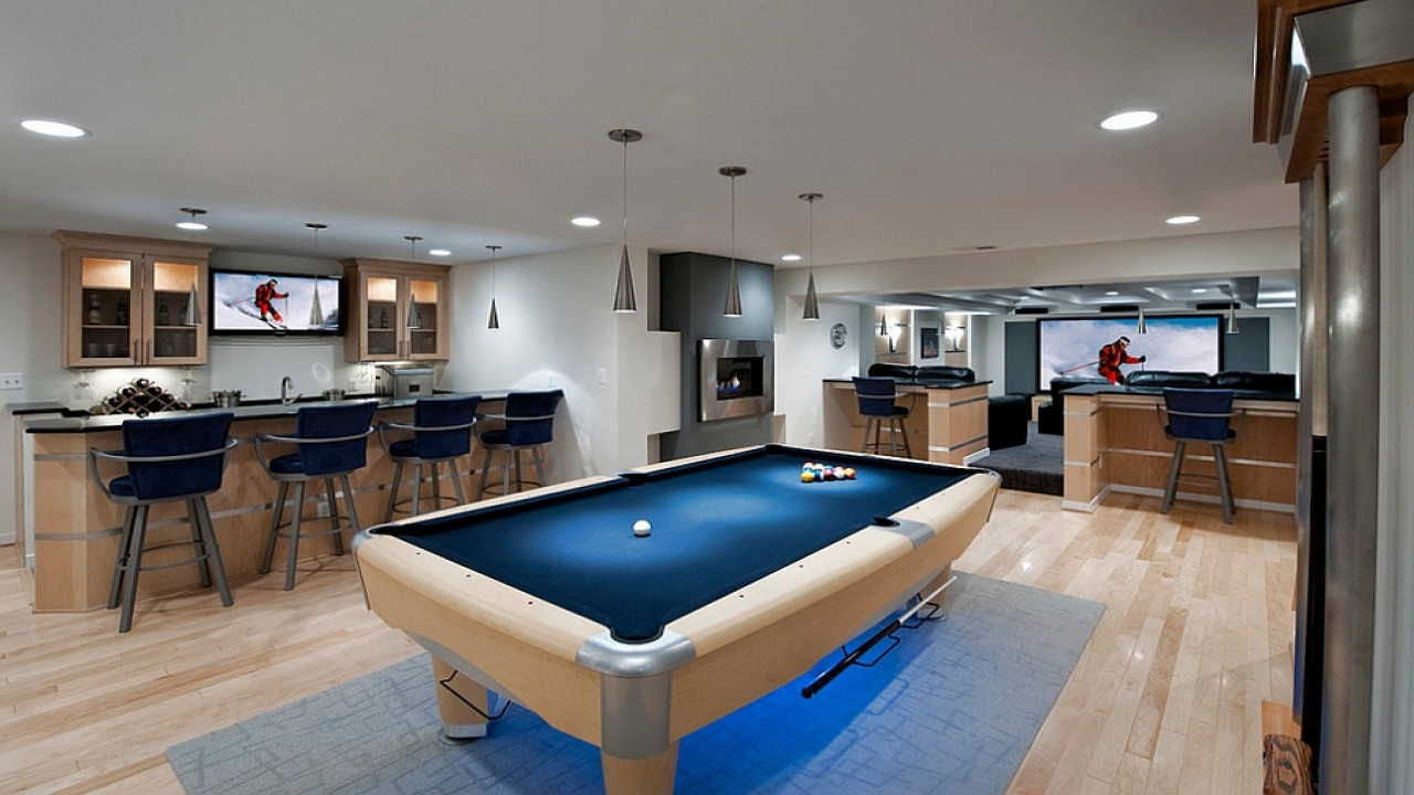 Best ideas about Luxury Game Room . Save or Pin Masculine bedding basement game room design ideas luxury Now.