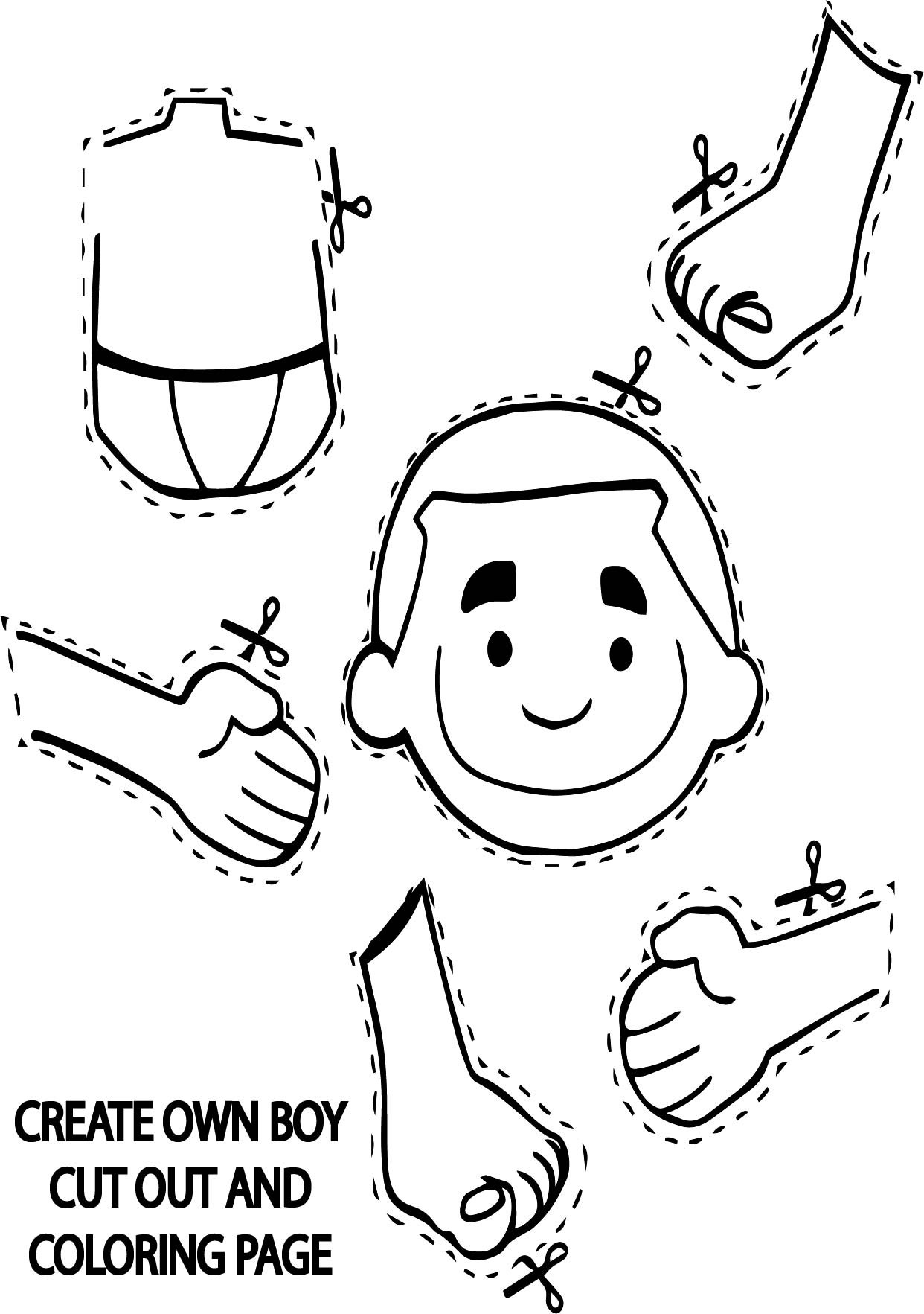 Best ideas about Make Coloring Book Pages . Save or Pin Create Own Boy Cut Out Coloring Page Now.