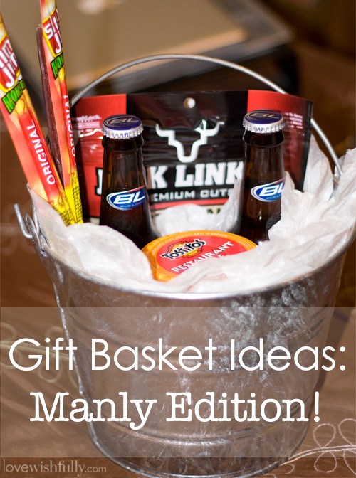 Best ideas about Man Gift Baskets Ideas . Save or Pin DIY Awesome Gift Basket for Man Now.