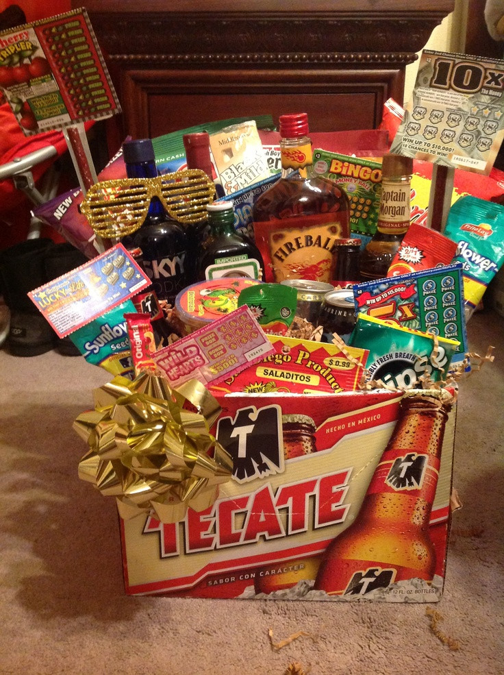 Best ideas about Man Gift Baskets Ideas . Save or Pin Men s t basket Birthday t College Now.