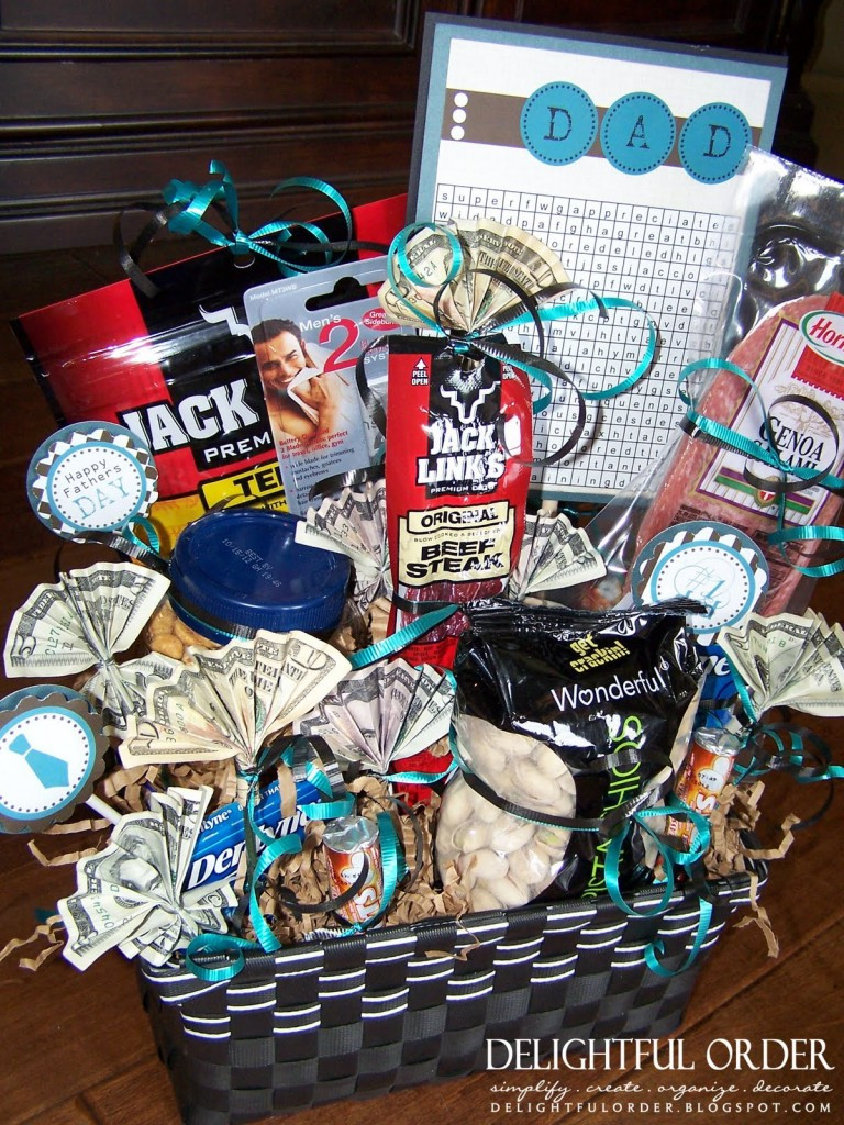 Best ideas about Man Gift Baskets Ideas . Save or Pin DIY Valentine s Day Gift Baskets For Him Darling Doodles Now.