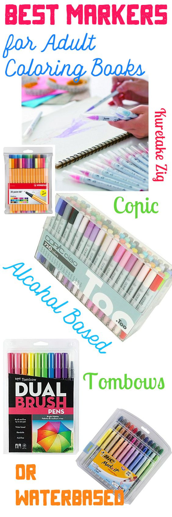 Best ideas about Markers For Adult Coloring Books . Save or Pin Best Markers for Adult Coloring Books Alcohol Based Now.