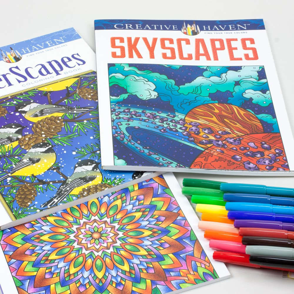 Best ideas about Markers For Adult Coloring Books . Save or Pin Adult Coloring Book Kit With Pentel Fine Point Color Now.