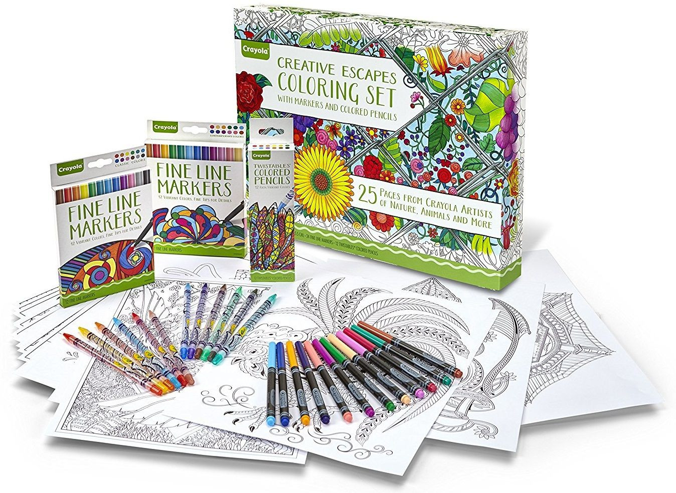 Best ideas about Markers For Adult Coloring Books . Save or Pin Add Item Crayola Adult Coloring Book & Marker Art Now.