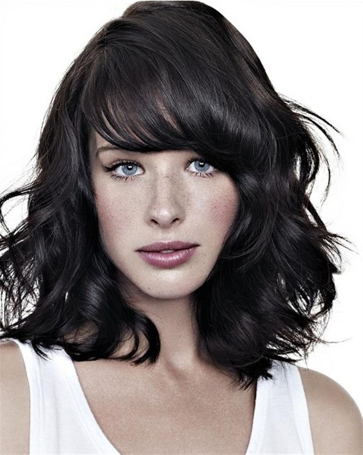 Best ideas about Medium Curly Hairstyles With Bangs . Save or Pin 23 Trendy Medium Haircuts for Women – CircleTrest Now.