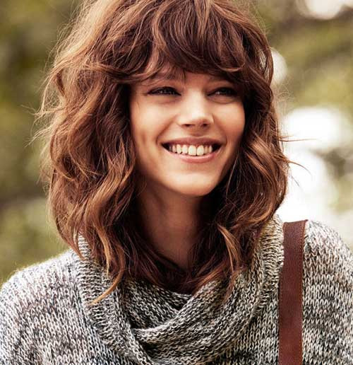 Best ideas about Medium Curly Hairstyles With Bangs . Save or Pin 35 Medium Length Curly Hair Styles Now.