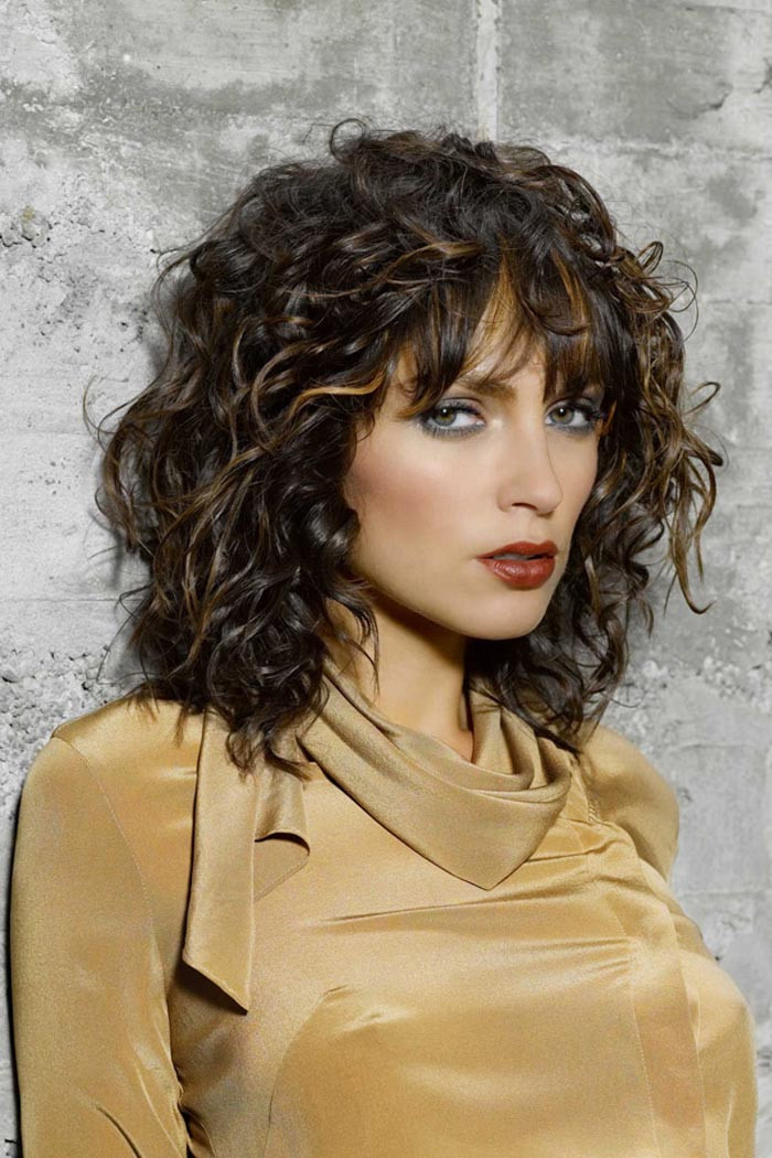 Best ideas about Medium Curly Hairstyles With Bangs . Save or Pin 60 Curly Hairstyles To Look Youthful Yet Flattering Now.