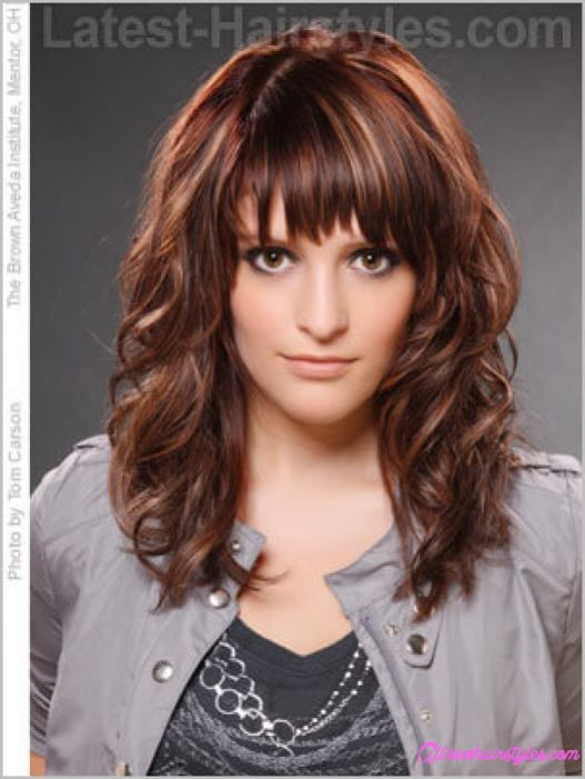 Best ideas about Medium Curly Hairstyles With Bangs . Save or Pin Curly layered haircuts with bangs AllNewHairStyles Now.