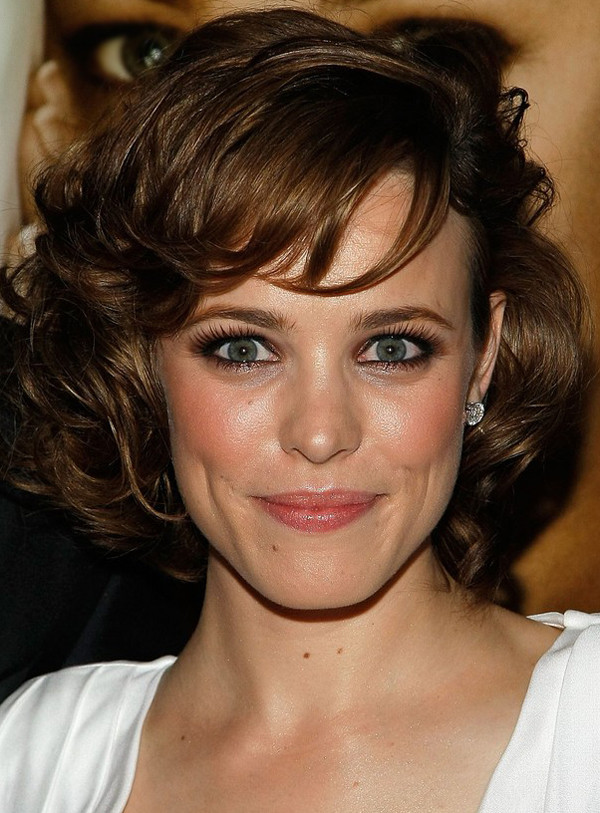 Best ideas about Medium Curly Hairstyles With Bangs . Save or Pin Rachel McAdams s Medium Curly Hairstyle with Bangs Now.