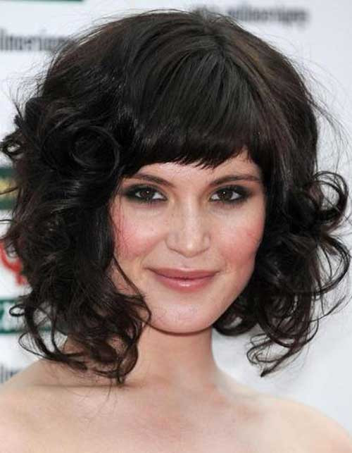 Best ideas about Medium Curly Hairstyles With Bangs . Save or Pin 30 Best Curly Hair with Bangs Now.