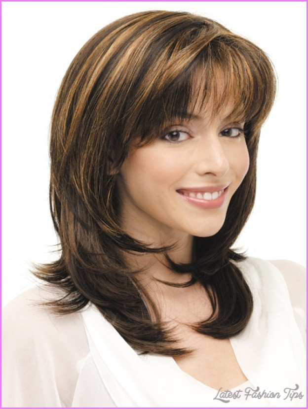 Best ideas about Medium Layered Hairstyles . Save or Pin Medium length haircuts no bangs layers LatestFashionTips Now.