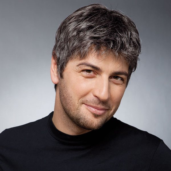 Best ideas about Men'S Wavy Hairstyle Short . Save or Pin Stylish Black Gray Toupee Short Shaggy Natural Wavy Now.