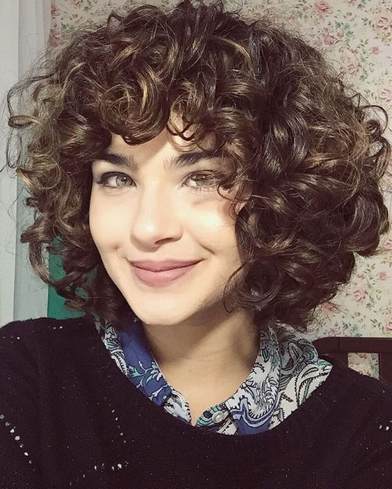 Best ideas about Men'S Wavy Hairstyle Short . Save or Pin short layered curly hair with bangs Now.