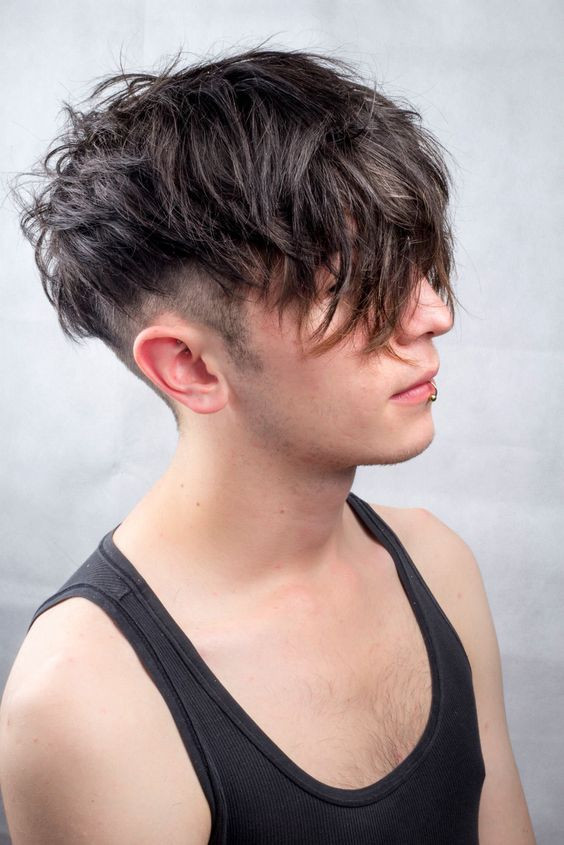 Best ideas about Messy Undercut Hairstyle . Save or Pin Messy undercut men s hair textured natural black Now.