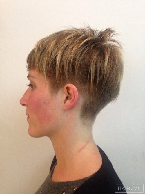 Best ideas about Messy Undercut Hairstyle . Save or Pin women undercut layered messy hairstyle Now.