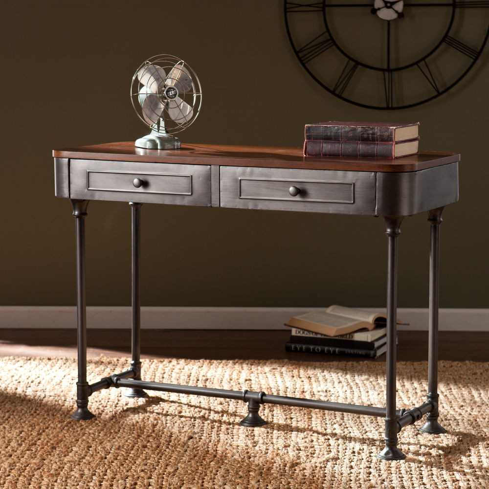 Best ideas about Metal Entryway Table . Save or Pin Edison Industrial Rustic Reclaimed Metal Sofa Console Now.