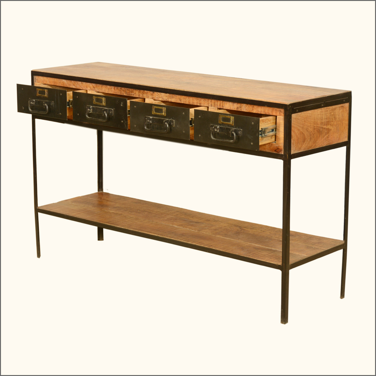 Best ideas about Metal Entryway Table . Save or Pin Furniture Brown Wooden Entryway Tables With Two Drawers Now.