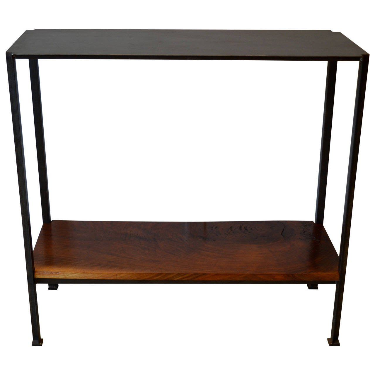 Best ideas about Metal Entryway Table . Save or Pin Industrail Metal Foyer Table with Walnut Shelf at 1stdibs Now.