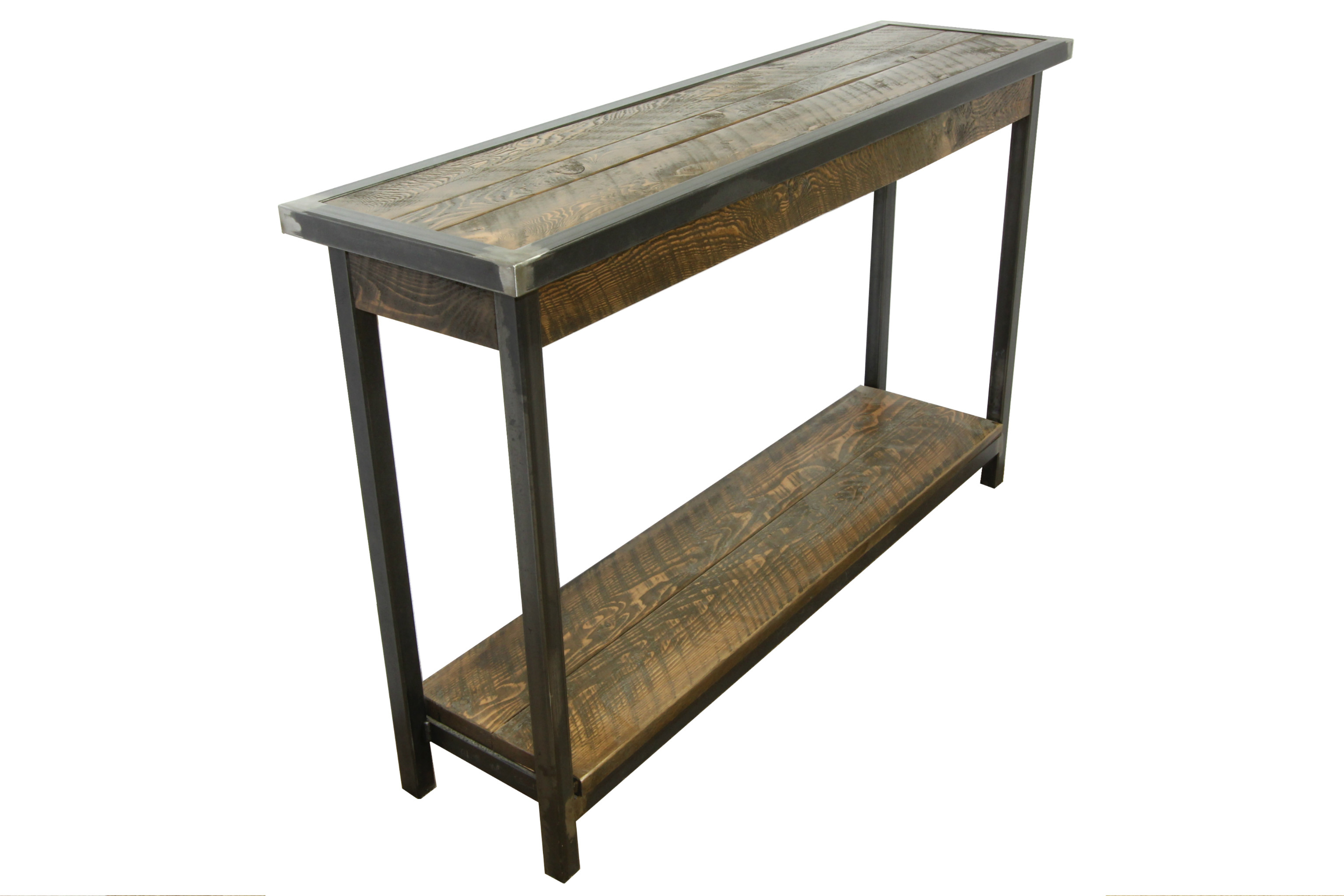Best ideas about Metal Entryway Table . Save or Pin Industrial Metal And Wood Entry Table Now.