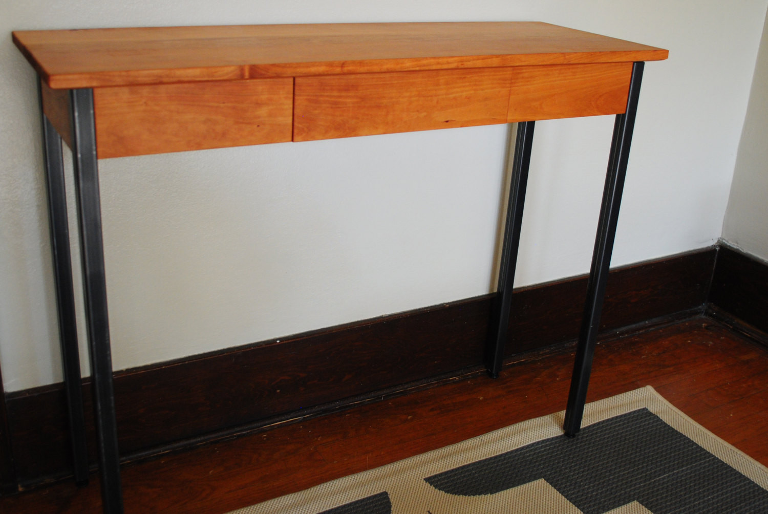 Best ideas about Metal Entryway Table . Save or Pin Metal Leg Entryway Table Solid Wood used in a Hallway or as Now.