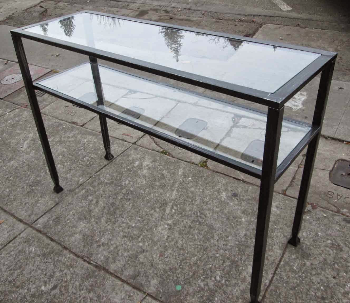 Best ideas about Metal Entryway Table . Save or Pin UHURU FURNITURE & COLLECTIBLES SOLD Glass and Metal Now.