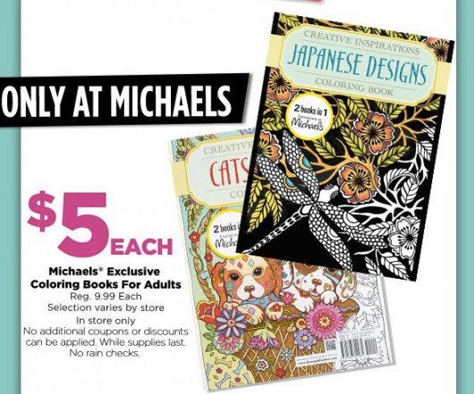 Best ideas about Michaels Adult Coloring Books . Save or Pin Michaels Exclusive Coloring Books for Adults ly $5 Reg Now.